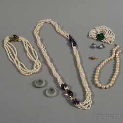 Assorted Group of Pearl and Gemstone Jewelry