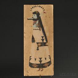 Early Zuni Painting of a Shalako Kachina