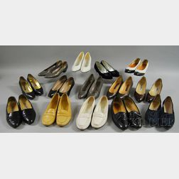 Fourteen Pairs of Women's Designer Shoes