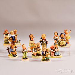 Thirteen Hummel Figures