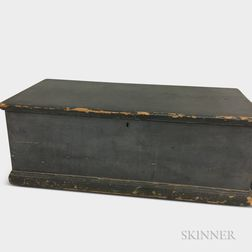 Blue-painted Pine Sea Chest