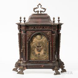 Early Italian Rosewood Veneered Alarm Table Clock