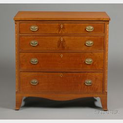Federal Walnut Inlaid Chest of Drawers