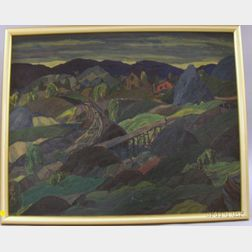 Two Landscapes by Leighton R. Cram (American, 1895-1981)