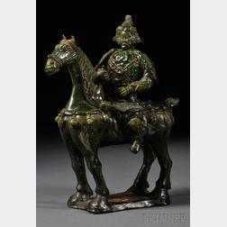 Green Glazed Horseman