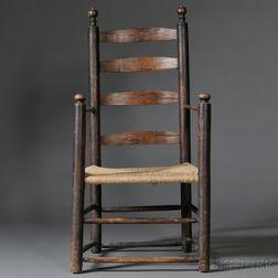 Turned Ash Slat-back Armchair
