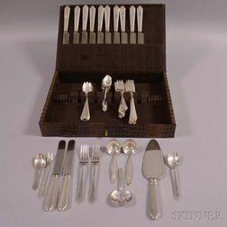 "Lunt Silversmiths ""Treasure"" Sterling Silver Partial Flatware Service"