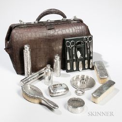 Tiffany & Co. Sterling Silver Traveling Vanity Set