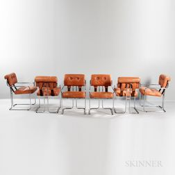 Six Guido Faleschini for Pace Tucroma Chairs