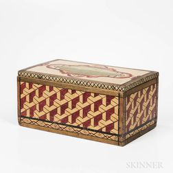 Maritime- and Geometric-decorated Hinged Lid Box