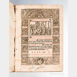 Natalibus, Petrus de, Bishop of Equilio (d. circa 1400) Catalogus Sanctorum. Sanctorum Catalogus Vitas: Passiones: & Miracula Com[m]odi