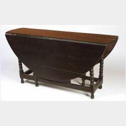 William and Mary Oak Drop Leaf Gate-leg Table