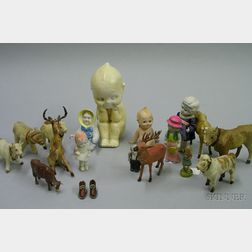 Approximately Eighteen Small Animals and Children Figures