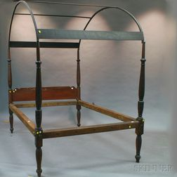Red-stained Federal Maple and Pine Canopy Bed