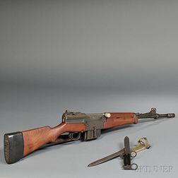 French Semiautomatic Mas MLE 1949-56 Rifle and Bayonet