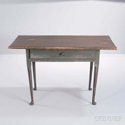 Green-painted Tavern Table