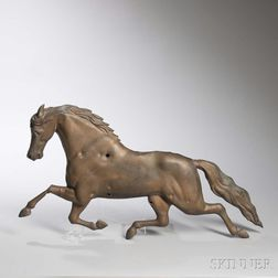Molded Sheet Copper Running Horse Weathervane