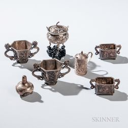 Seven Pieces of Chinese Export Silver