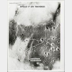 Apollo 17, Ten Ephemeral Items Related to the Mission.