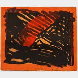 Howard Hodgkin (British, 1932-2017)      Red Eye