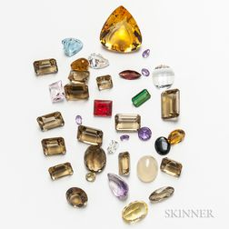 Group of Loose Gemstones