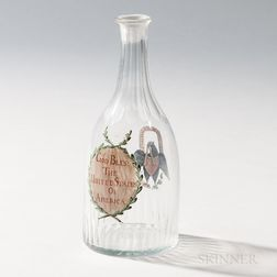 """God Bless the United States of America"" Enamel-decorated Decanter"