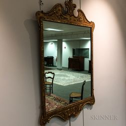 George III-style Carved and Gilt-gesso Mirror