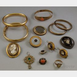 Small Group of Victorian Jewelry