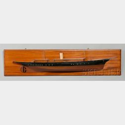 Mounted Half Hull Model of J.P. Morgan's Steam Powered Yacht CORSAIR