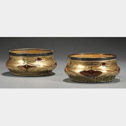 Pair of English Art Nouveau Art Pottery Planters