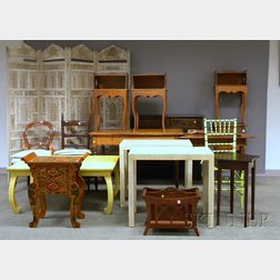 Group of Decorated and Miscellaneous Furniture