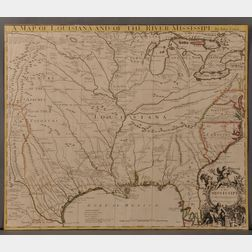 Louisiana, Texas, Gulf Coast, Great Lakes, and the Mississippi. John Senex (1678-1740) A Map of Louisiana and of the River Mississippi.