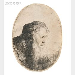 Ferdinand Bol (Dutch, 1616-1680)      A Bearded Old Man in Profile Facing Right