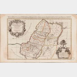 Israel. Alexis Hubert Jaillot (1632-1712) Judaea seu Terra Sancta, quae Hebraeorum, sive Israelitarum Terra.
