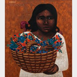 Mario Miguel Mollari (Argentinian, 1930-2010)      Girl with Flowers