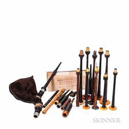 Collection of Bagpipe Parts and Accessories