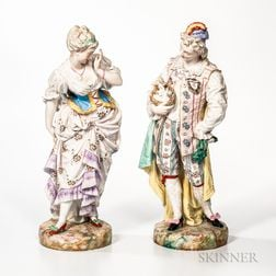 Pair of Porcelain Figures of Lovers