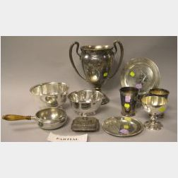 Twenty-one Pieces of Sterling Silver and Silver Plated Hollowware and Table Items