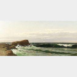 Alfred Thompson Bricher  (American, 1837-1908)    Marine Scene, Possibly Off Bailey's Island, Maine