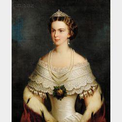 British School, 19th Century      Portrait of Elisabeth of Bavaria