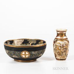 Satsuma Bowl and Vase