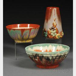 Three Art Deco Pottery Items