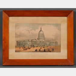 Currier & Ives, publishers (American, 1857-1907)      United States Capitol, Washington, D.C.