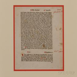 Higden, Ranulph (1280-1364) Polychronicon  , Leaf.