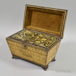 Anglo-Indian Penwork Double Tea Caddy