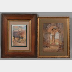 Two Grand Tour Watercolors:      William Alister MacDonald (British, 1861-c. 1948), Como, 1910
