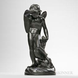 Wedgwood Black Basalt Figure of Cupid
