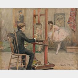 Arthur Clifton Goodwin (American, 1866-1929)      Louis Kronberg in his Studio