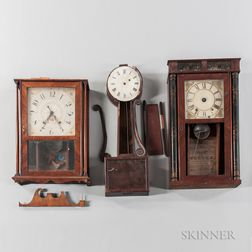 Three 19th Century American Clocks for Restoration