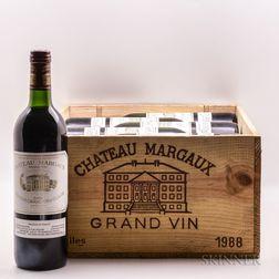 Chateau Margaux 1988, 12 bottles (owc)